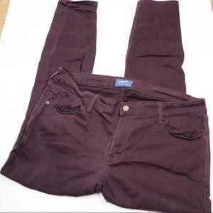 Deep purple Rockstar skinny denim jeans 16
